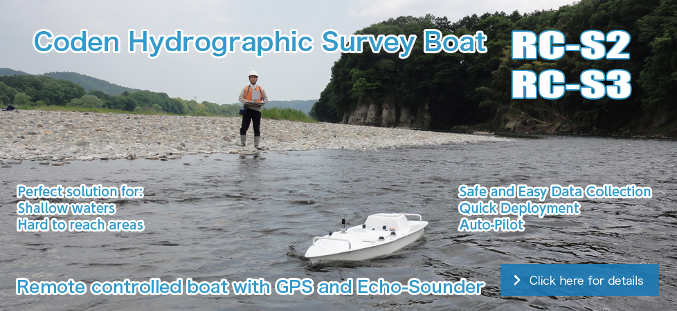 Coden Hydrographic Survey Boat Remote controlled boat with GPS and Echo-Sounder